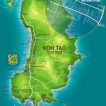 Mapa turístico de Koh Tao