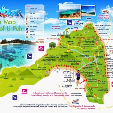 Mapa turístico de Koh Lipe