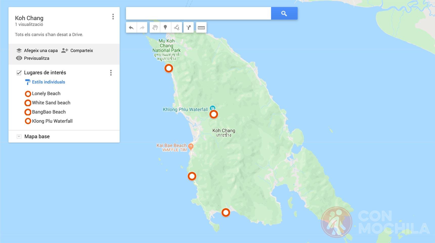 Mapa Koh Chang