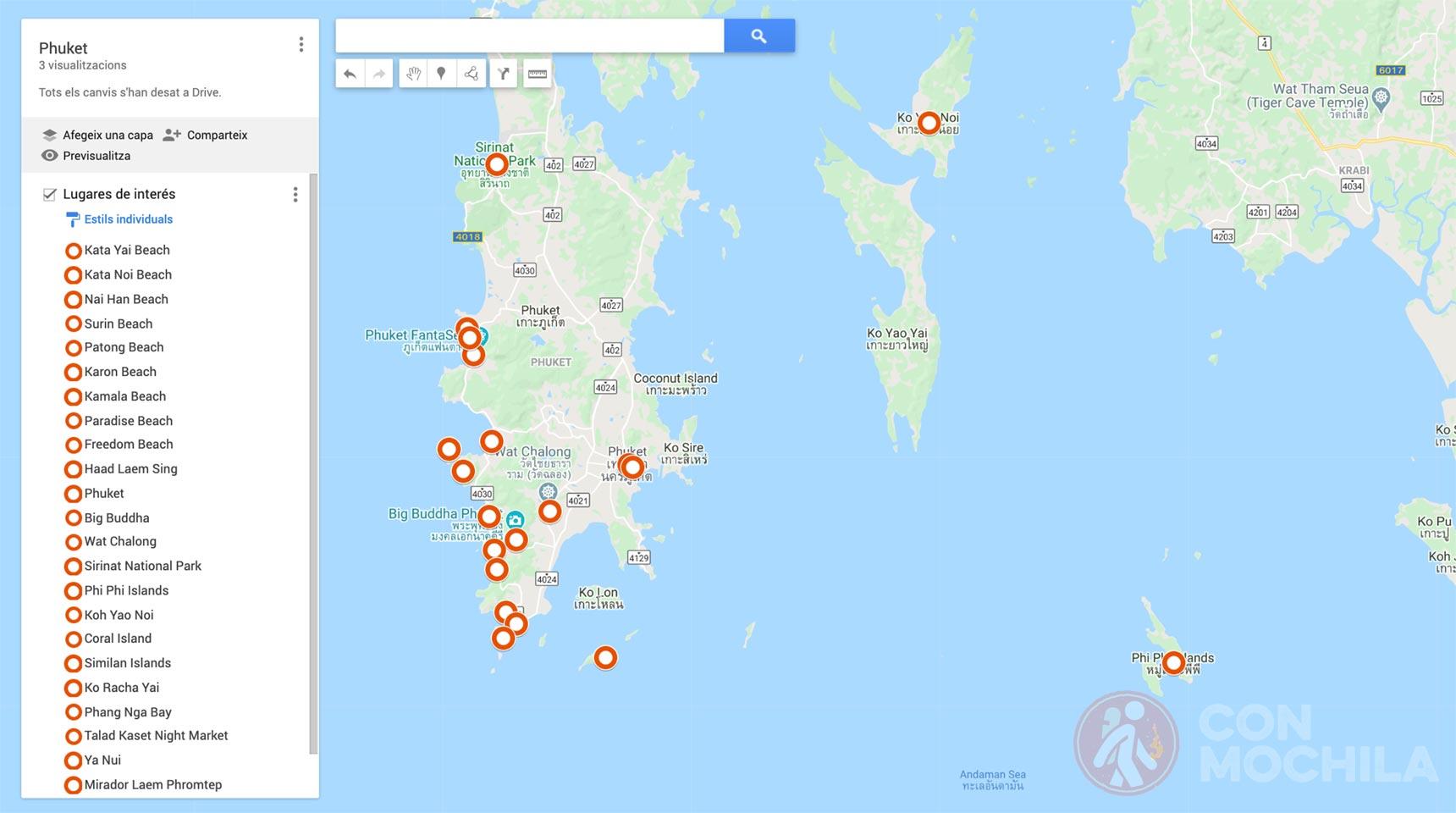 Mapa Phuket
