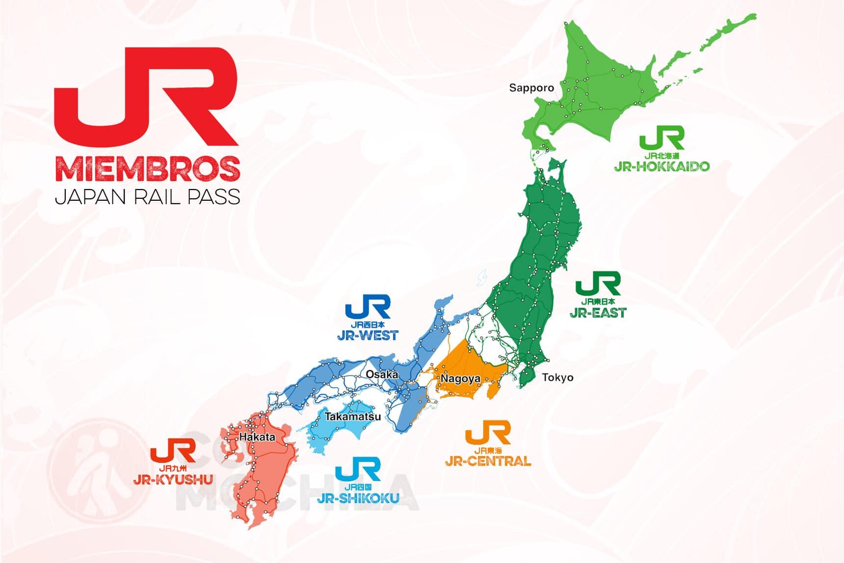 MIEMBROS JAPAN RAIL PASS