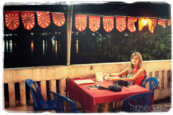 Carme at the Riverside Houay Restaurant