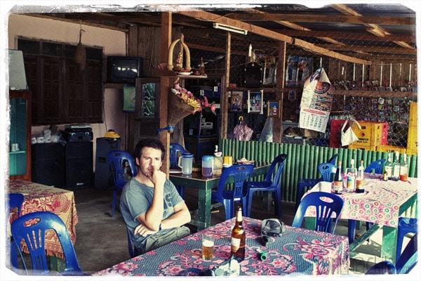 Toni en el (restaurante) donde solo había arroz con verduras