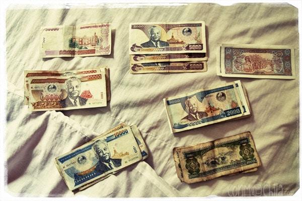 Detalle los diferentes billetes (mira los números porque están escritos de dos maneras)
