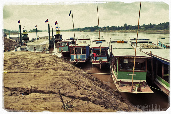 Boats in Huay Xai