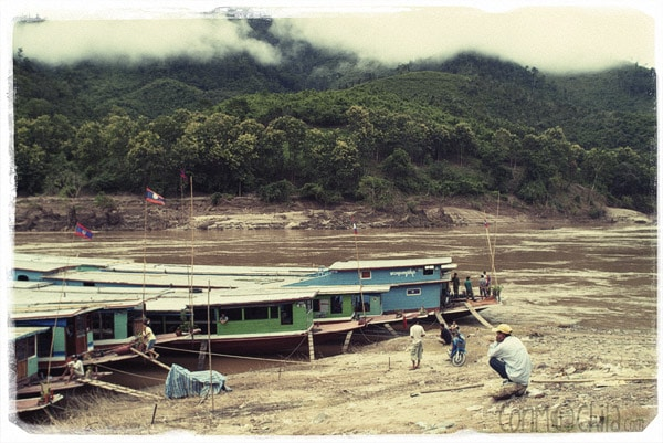 Barcas en Pak Beng