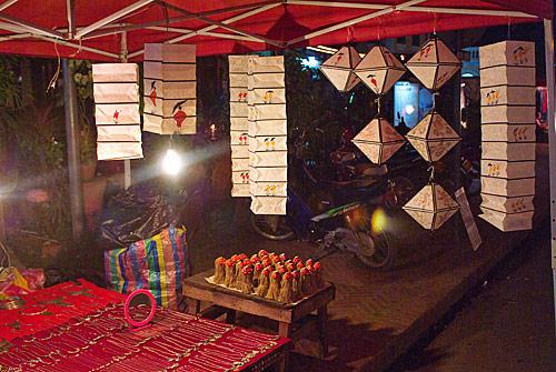 Farolillos típicos de Laos