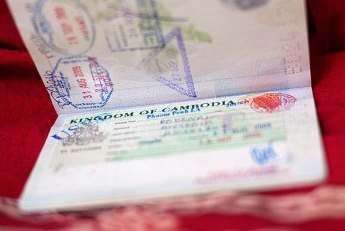 Visado de Camboya