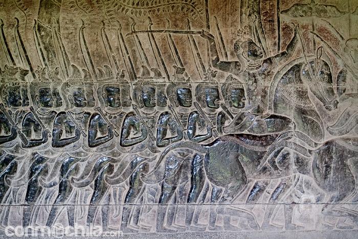 Batallas representadas en bajorrelieves