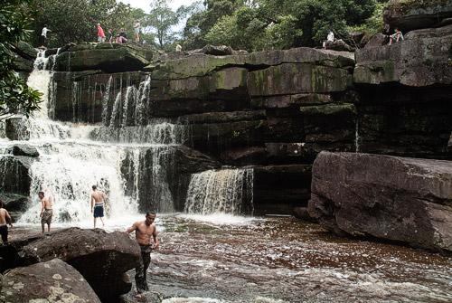 Vista general de las cascadas
