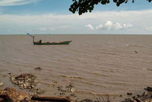 Unión del río con el mar