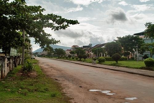 Avenida del antiguo mercado de Kampot