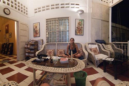 El salón de Blue Dog guesthouse