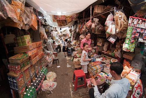Una familia en el mercado