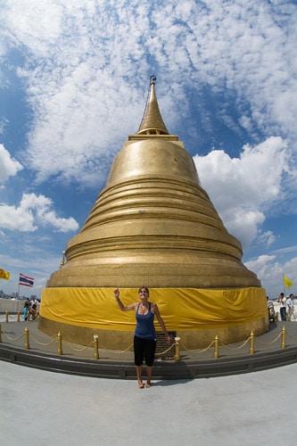 La gran cúpula dorada de la cima