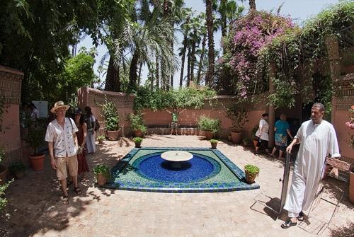 Entrada del jardín Majorelle