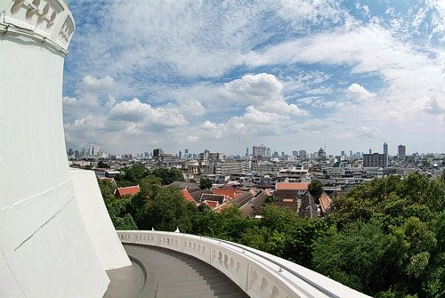 Bonita vista de Bangkok