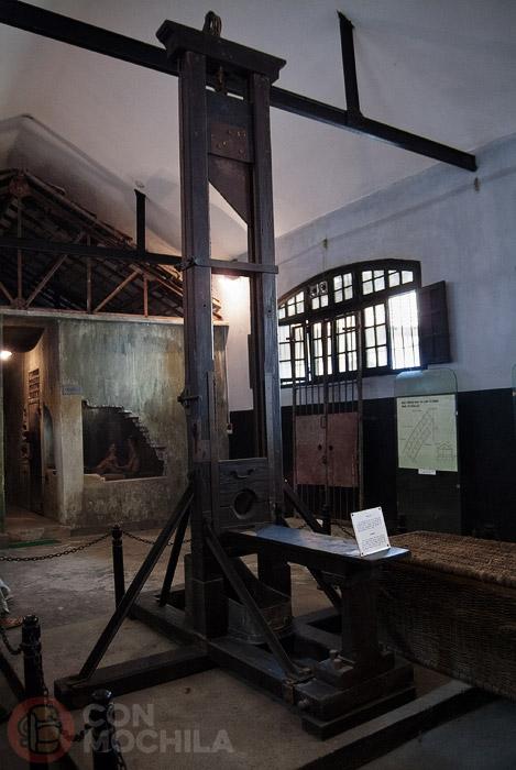 La guillotina francesa de la prisión