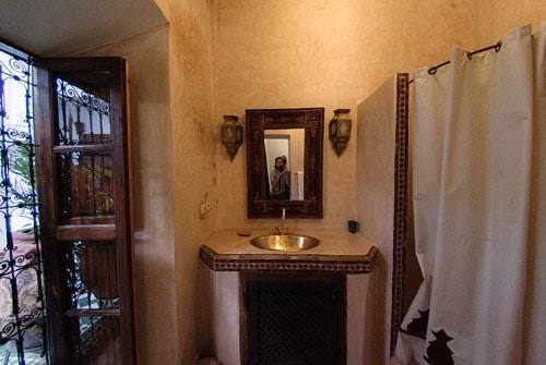 Detalle del interior del baño