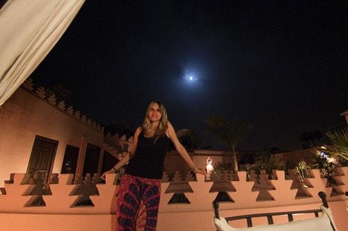 La luna de Marrakech desde la terraza de la riad
