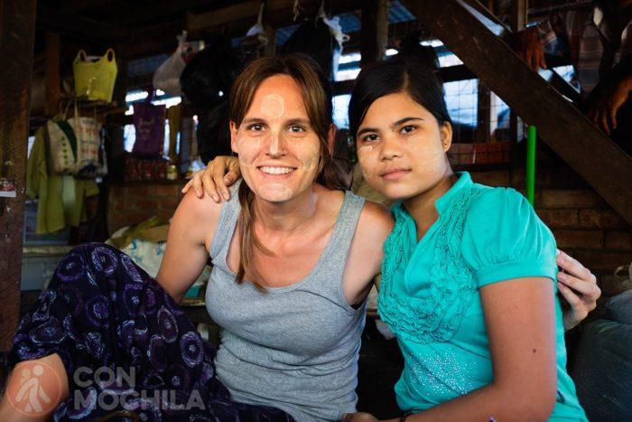 El resultado del maquillaje birmano