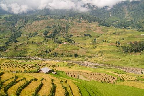 Impresionante paisaje del valle de Sapa