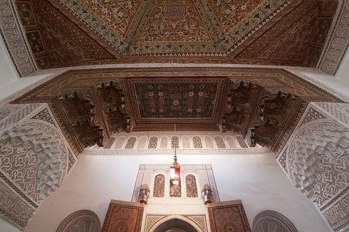 Una de las salan interiores del Palais de la Bahia