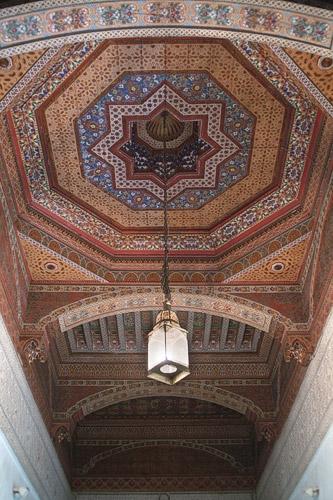 Otro espectacular techo perfectamente ornamentado