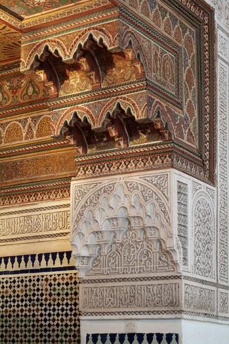 Detalle de uno de los pilares