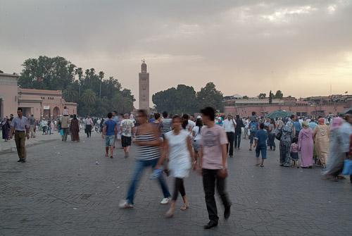Otra vez la plaza de Djemaa el-Fna