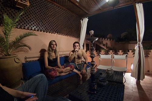Despedida de Marrakech fumando en la cachimba