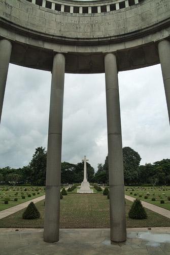 Detalle de la simetría reinante en el cementerio
