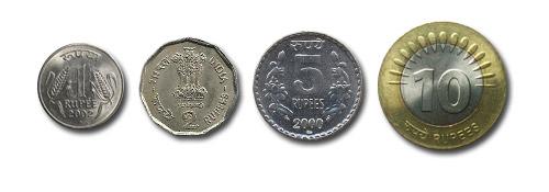 1, 2, 5 y 10 Rupias