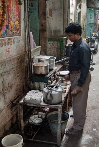 A punto de preparar el delicioso Masala Chai