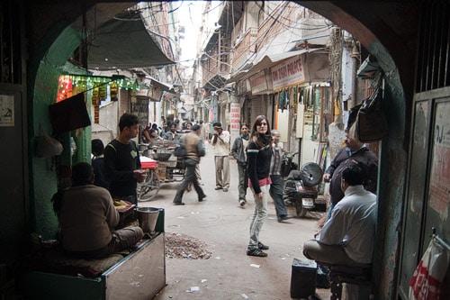 Dejando atrás Old Delhi
