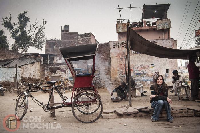 Itinerario de viaje a India: En el barrio musulmán del Taj Mahal