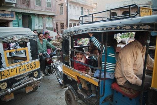 Rickshaw por aquí, rickshaw por allá
