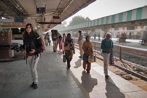 Llegamos a la estación de trenes de Bikaner