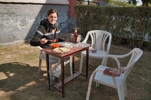 """La primera comida de """"relax"""" en India"""