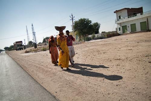 Imagen habitual en el camino a Bikaner
