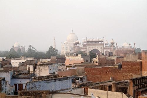 Espectacular vista del Taj Mahal