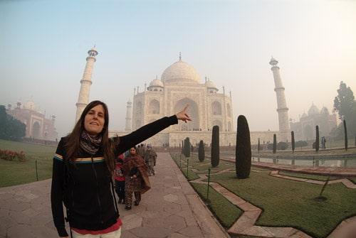 Allí está el Taj Mahal