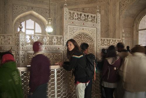 Interior del mausoleo