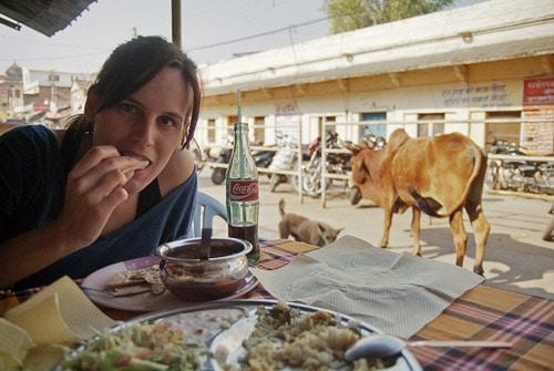 Siempre con la deliciosa comida (y con las vacas)