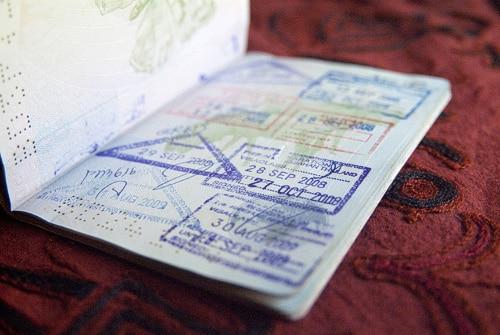 Visado de Tailandia: Sello de entrada a Tailandia