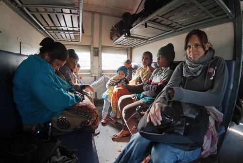 Toda la comitiva del vagón de tren