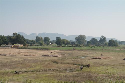 Paisaje hasta los primeros templos de Khajuraho