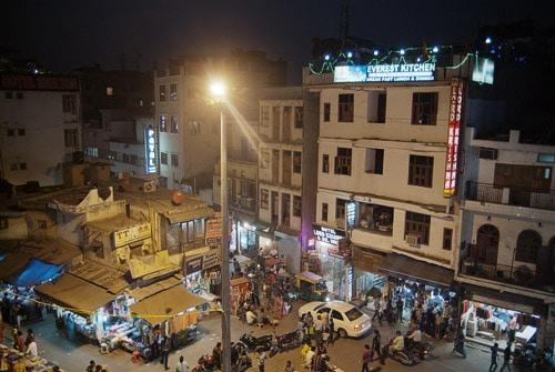 Vista de la fachada del hotel Lord Krishna