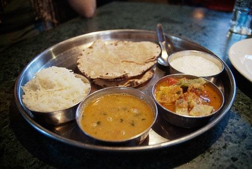 El omnipresente thali de India