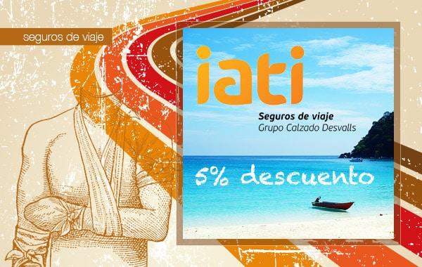 5% de descuento en IATI seguros de viaje para los lectores de conmochila
